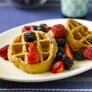 Photo link to Berry Pecan Pancake and Waffles recipe