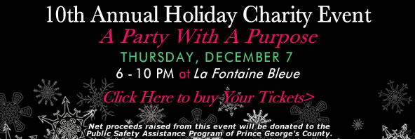 10th Annual PGCAR Holiday Charity Event is 7 - 10 December 7
