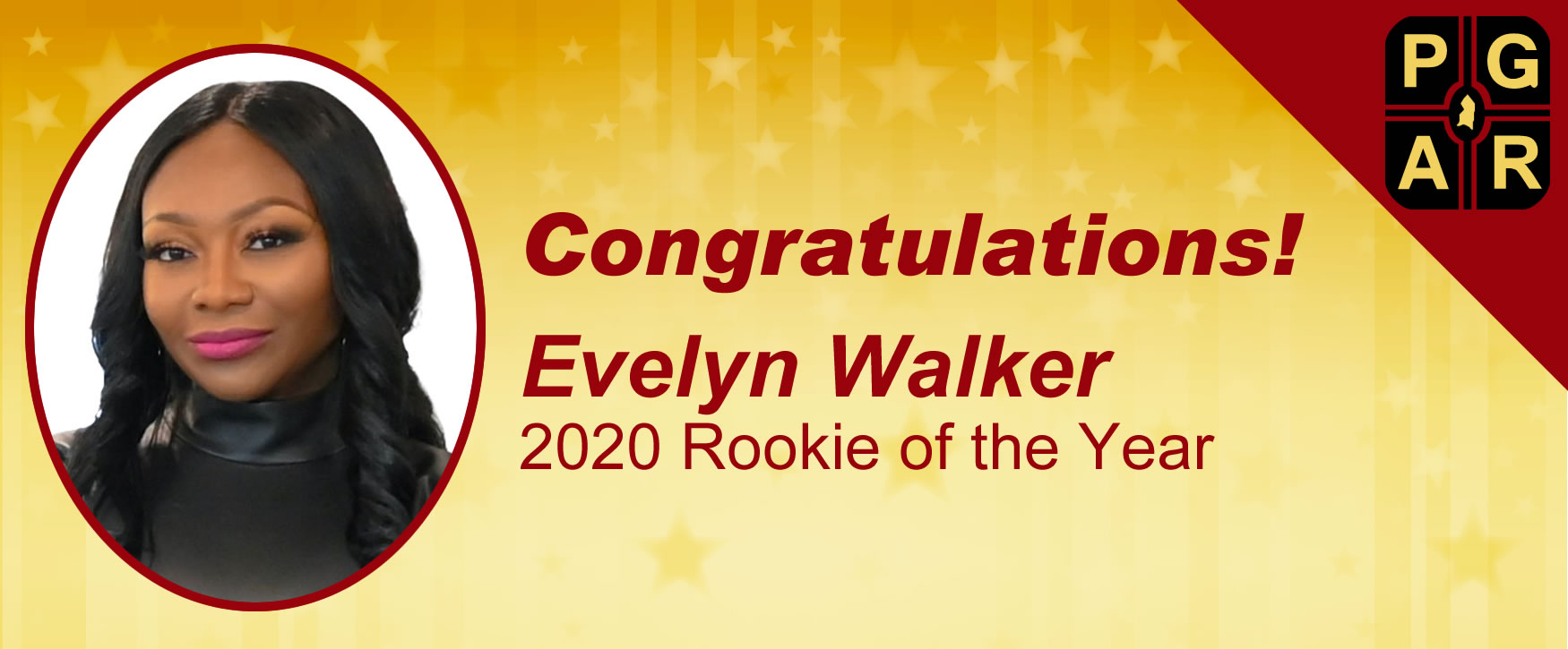 Congratulations to Evelyn Walker! 2020 Rookie REALTOR of the Year Award Winner