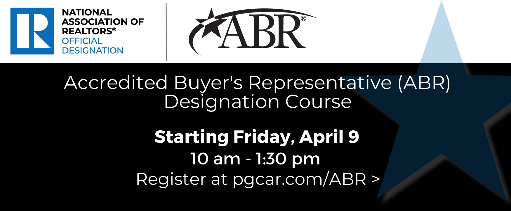 Set yourself apart with the Accredited Buyers Representative (ABR) Designation - starting March 5