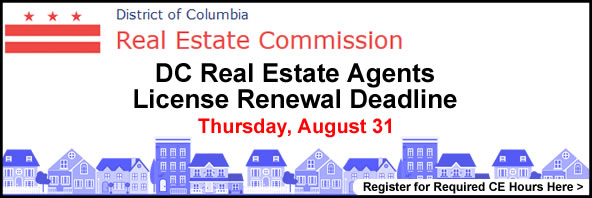 DC Real Estate Agents License Renewal Deadline