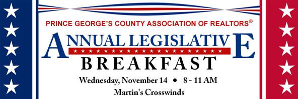 PGCAR Legislative Breakfast - Keynote Speaker Rushern Baker