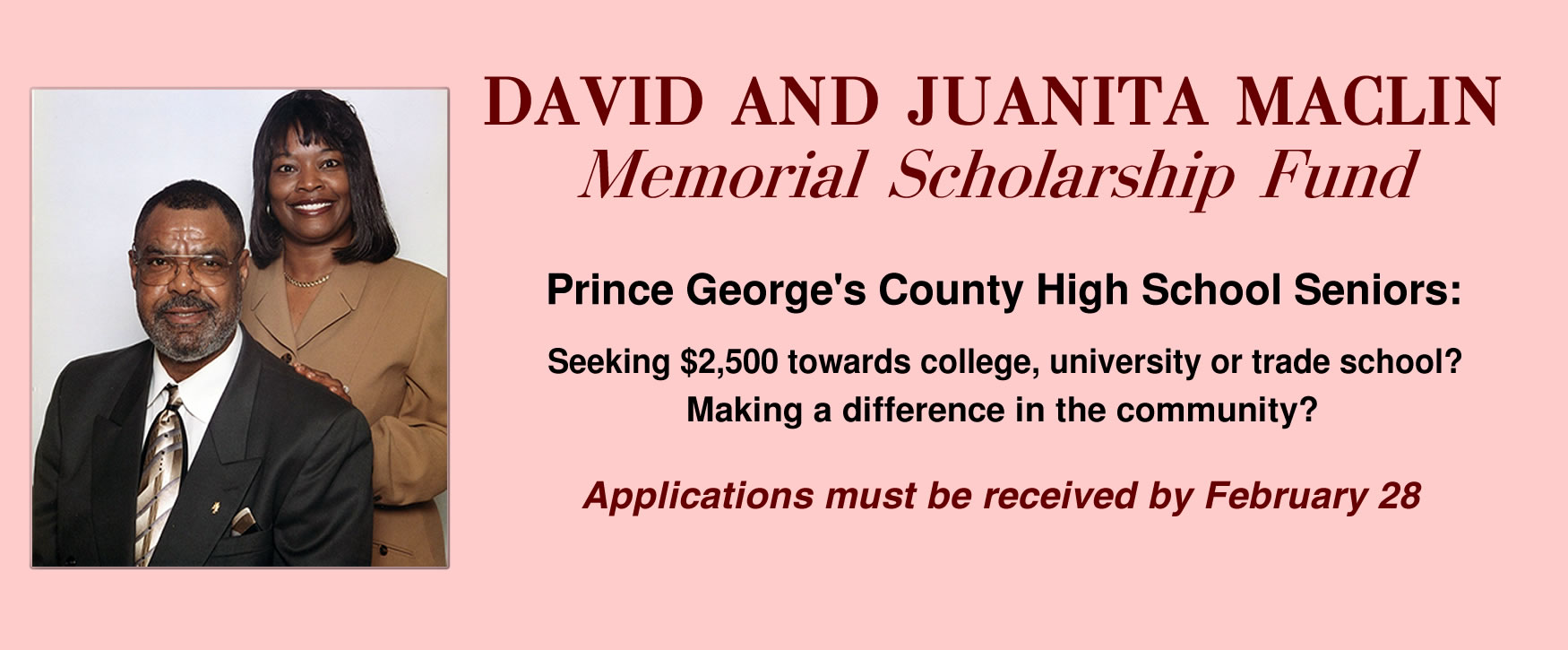Help high school seniors apply for $2500 scholarship - February 28 deadline