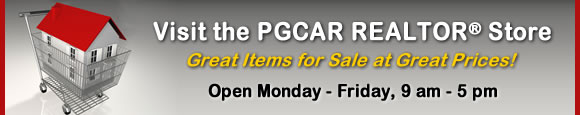 Visit the PGCAR REALTOR Store. Great Items for Sale at Great Prices. Open Monday - Friday, 9 am - 5 pm