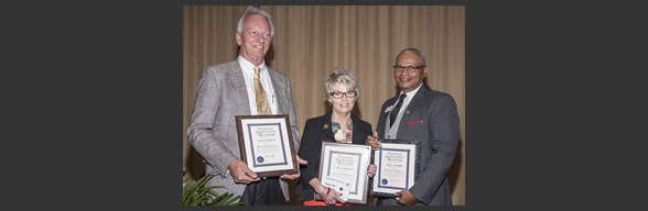 REALTORS(r) Jack Bannister, Iona Harrison and Boyd Campbell were named REALTOR Emeritus