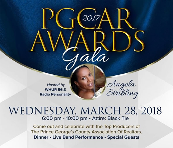 PGCAR Awards Gala Recognizing REALTOR 2017 Production is Wednesday, March 28, 6 - 10 pm