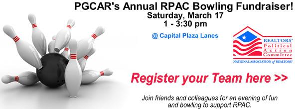 PGCAR's Annual RPAC Bowling Fundraiser!