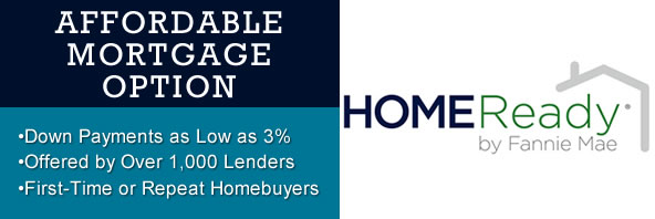 HomeReady mortgages allow homeownership at 3% down
