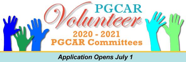Volunteer for a PGCAR Committee