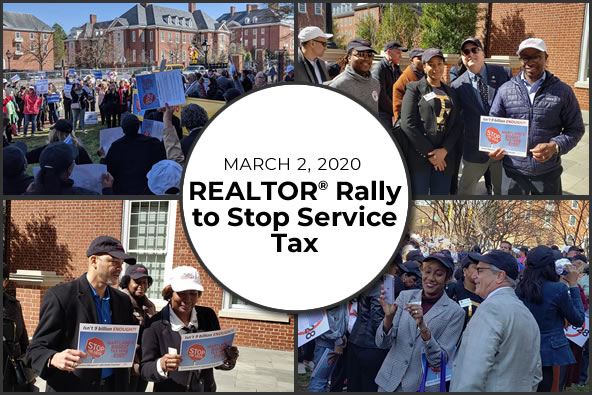 REALTOR Rally in Annapolis to Stop Services Tax