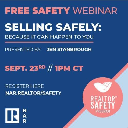 REALTOR Safety webinar - click to register