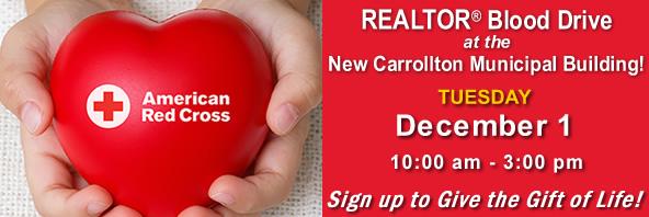 PGCAR Red Cross Blood Drive December 1 at New Carrollton Municipal Building - click to register