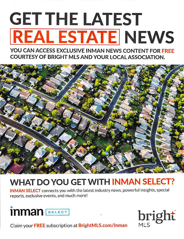 Bright MLS now offering FREE Inman News subscription