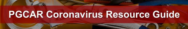 Important Coronavirus updates for PGCAR members