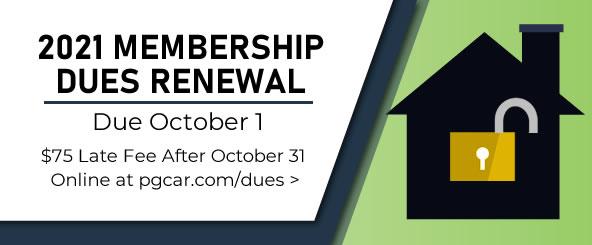 Membership renewals are due October 1