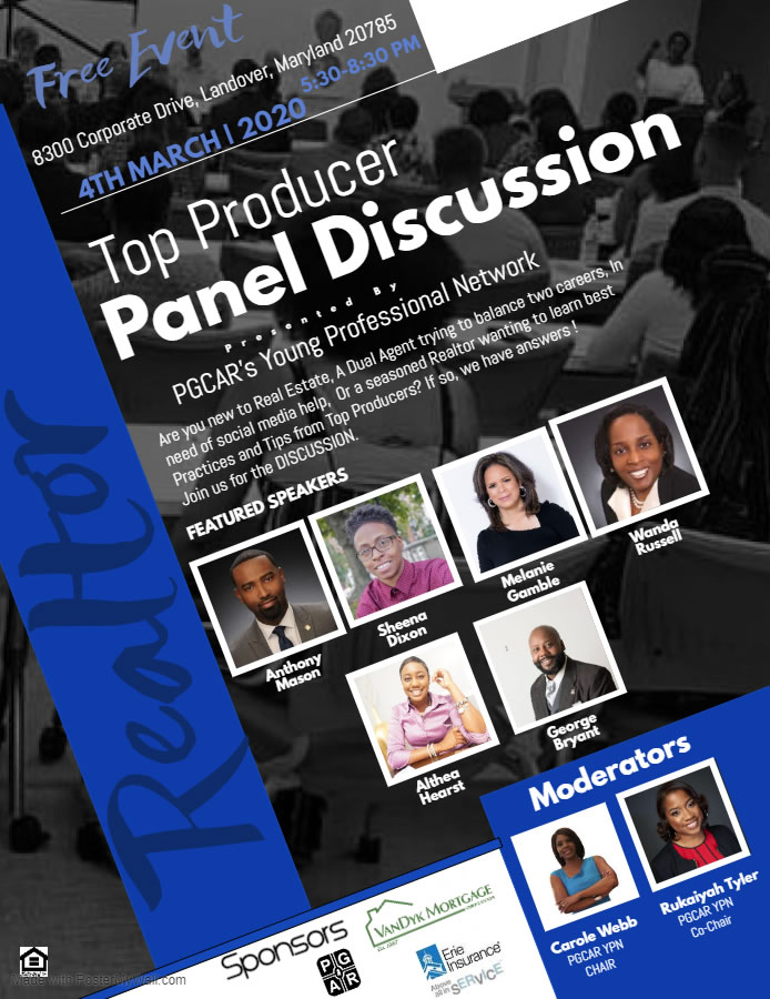 All PGCAR Members are Invited to the FREE Top Producers Panel March 4