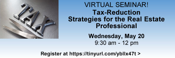 Tax-Reduction Strategies Webinar - click to register