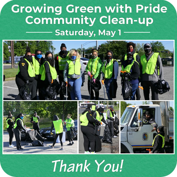 Growing Green with Community Pride Community Clean-Up May 1
