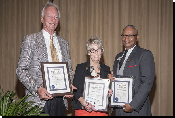 REALTORS® Jack Bannister, Iona Harrison and Boyd Campbell were named REALTOR Emeritus